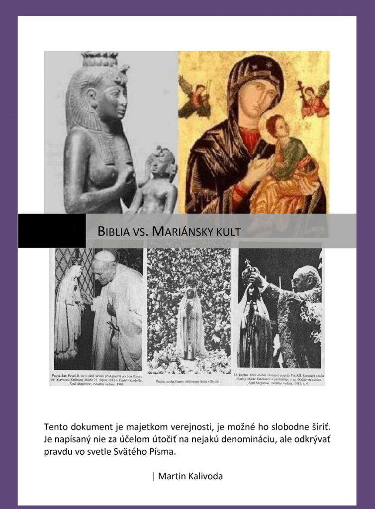BIBLIA vs. MARIÁNSKY KULT
